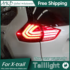 trail of lights parking akd car styling for nissan x trail tail lights 2014 2015 new rouge
