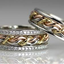 Unique Wedding Rings by Braided Unique Wedding Rings Handmade By Artist Todd Alan