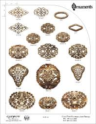 metal decorative stings guyot bros ornaments catalog page 63