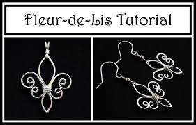 beginner earrings jewelry tutorial how to make fleur de lis pendant or earrings