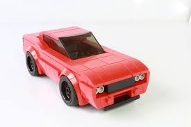 lego sports car i made this dodge challenger using binoculars as headlights lego