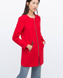 zipped round neck coat outerwear woman sale zara united