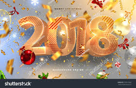 merry happy new year 2018 stock vector 735013582