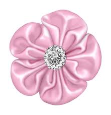 flower bow light pink flower bow with diamond gallery yopriceville high