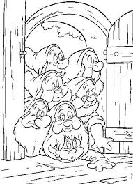 snow white coloring pages dancing dwarfs coloringstar