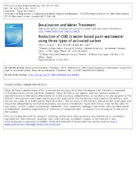 3584 Best Color And Paint by Reduction Of Cod In Water Based Paint Wastewater Using Three Types