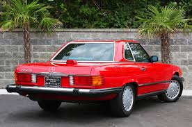 classic red mercedes 1986 mercedes 560sl classic cars today online