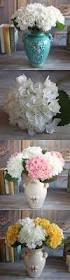 2pcs 1 bouquet pure white french hydrangea artificial silk flower
