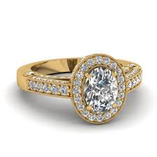 yellow gold oval engagement rings yellow gold oval white engagement wedding ring in pave set