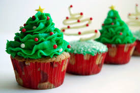quirky charismatic christmas tree cupcakes christmas photo cards