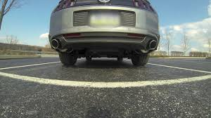 axle back exhaust mustang v6 2013 mustang v6 roush axle back exhaust sound revs gopro 3