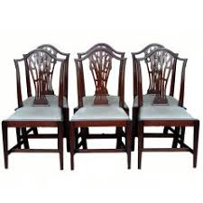 Spanish Colonial Dining Chairs Set Of Six Antique Spanish Colonial Stamped Leather Dining Chairs