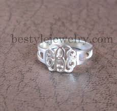 Custom Monogram Rings 38 Best Ziedeliai Images On Pinterest Initial Rings Letter And