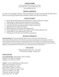 Good Dental Assistant Resume Dental Resume Samples Dental Assistant Resume Sample Tips Resume