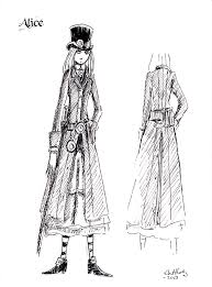 steampunk alice character sketches the further adventures of