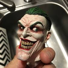 batman and joker life size bust joker pf endgame custom head