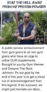 The Rock Gym Memes - 25 best memes about protein powder protein powder memes