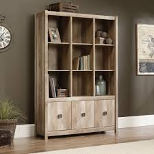 Oak Bookcases With Doors by Amazon Com Sauder Cannery Bridge Wall Storage Kitchen U0026 Dining