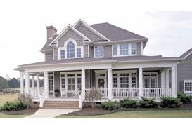 house plans with big porches plan hwepl11732 has an impressive front porch there s another one