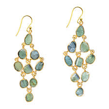 chandelier earrings tara chandelier earrings green tourmaline sushilla jewellery