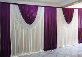 wedding backdrop online cheap grape purple wedding backdrop curtain with swag wedding
