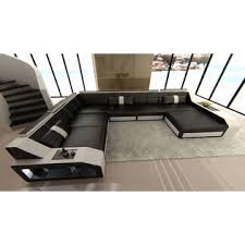 Houston Sectional Sofa Sofadreams Design Sectional Sofa Houston With Led Lights Black And