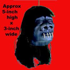 shrunken head luau voodoo gothic halloween horror prop black