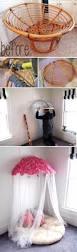Pink Papasan Cushion by Papasan Chair Turned Into A U0027papasan Canopy U0027 Over Little Girls U0027 Bed