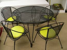 mesh wrought iron patio furniture captivating black wrought iron table and chairs with vintage rod