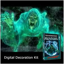 halloween digital decorations kit atmosfx ghostly apparitions dvd