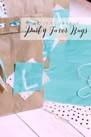 party favor bags diy party favor bags a party of four