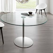 Round Glass Kitchen Table Tonelli Farnienti Alto Round Glass Dining Table