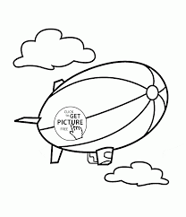 airship coloring page for kids transportation coloring pages