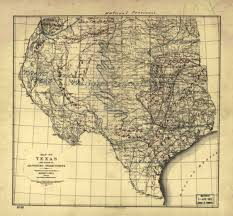 Old Texas Map Texas Indian Battles By Olivia Fiorillo