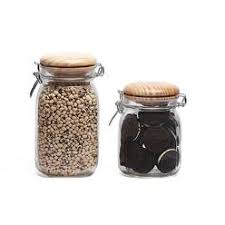 circleware piece clear kitchen canister set