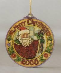 heartwood creek 2008 santa dated hanging disc ornament jim shore