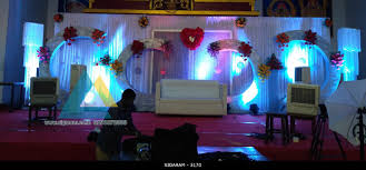 wedding reception decoration at sai baba kalyana mandapam