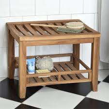 Teak Benches For Showers Teak Rectangular Shower Stool Bathroom