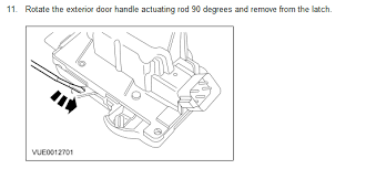 ford focus door handle parts the driver door on a 2005 ford focus the handle freely