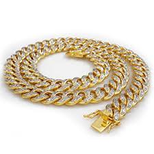 chain links bracelet images Niv 39 s bling 18k gold plated cuban link chain for men iced out jpg