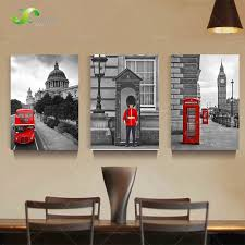 home decor stores london 3 panel modern printed london city wall painting canvas landscape