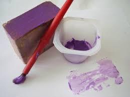 painting with wood blocks creative art activity preschool toolkit