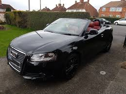 convertible audi red audi a3 2 0tdi 2009 convertible black full red leather interior