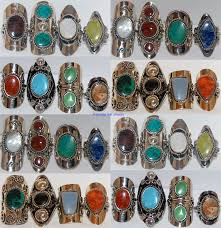 rings with stones images 10 rings natural gemstone peru silver jewelry bulk lot ebay jpg