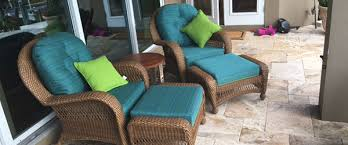 blog chair and ottoman cushions made with sunbrella by silver