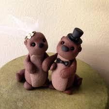 sea otters custom wedding cake topper custom wedding cake