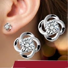 hypoallergenic earrings wooker stud earring hypoallergenic 925 silver flash lucky