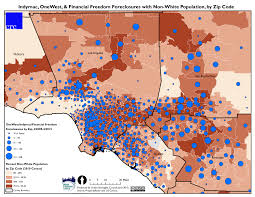 West Bank Map New Maps Of Onewest Foreclosures In California Communities The