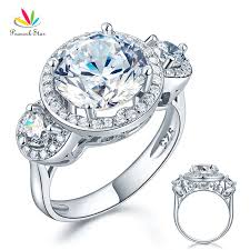 style wedding rings images Peacock star luxury solid 925 sterling silver wedding ring vintage jpg