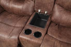 Ashley Furniture Microfiber Loveseat Ashley Alezna Gunsmoke Double Reclining Loveseat With Console